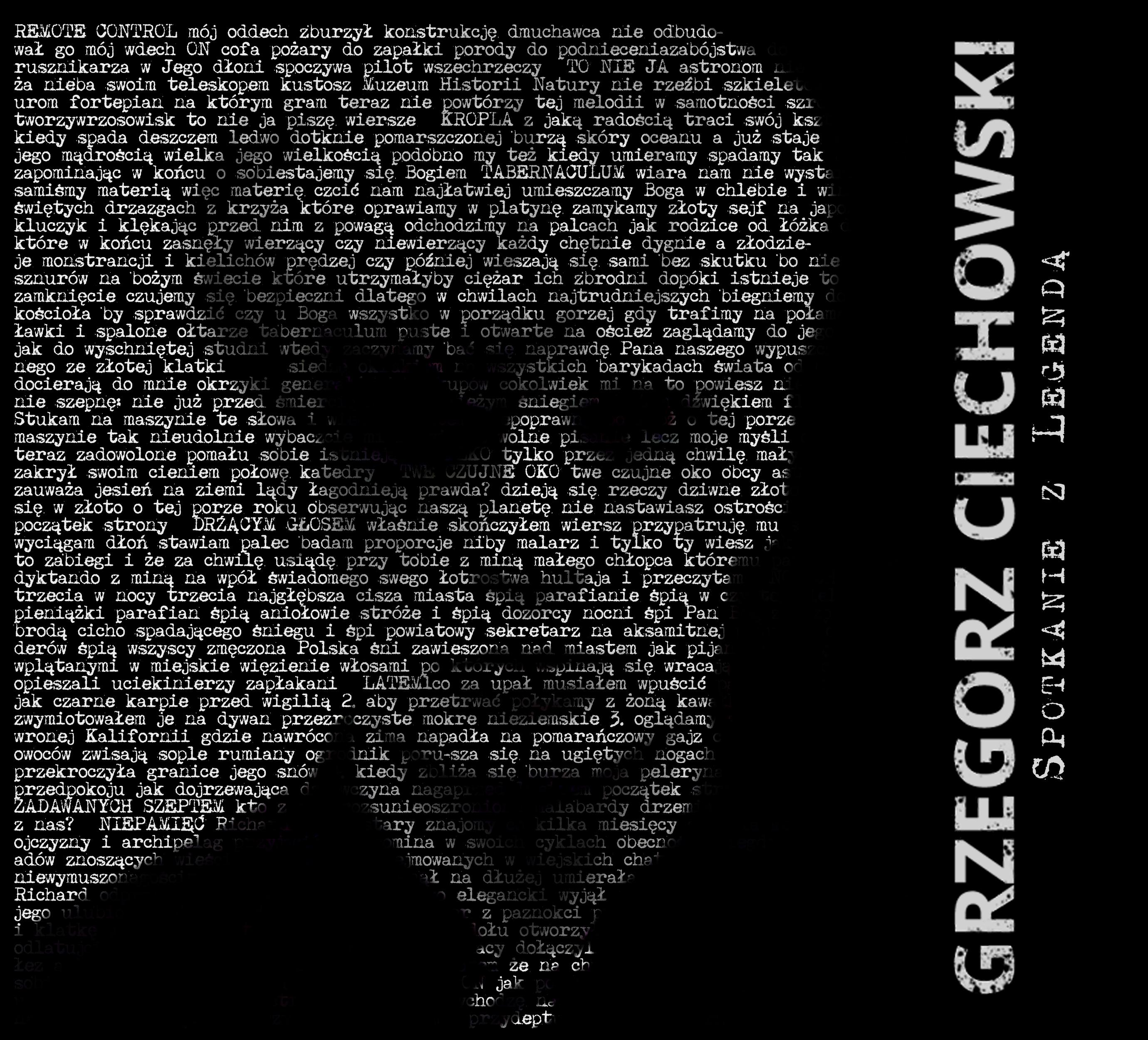 """Grzegorz Ciechowski """"Spotkanie z legendą"""" na DVD"""